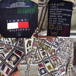 Tommy Hilfiger Shirts - Vintage Tommy Hilfiger Country Flag Print Top (B4)